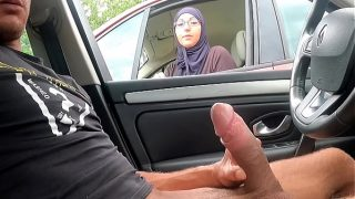 I take out my cock on a motorway rest area Hot desi girl is shocked